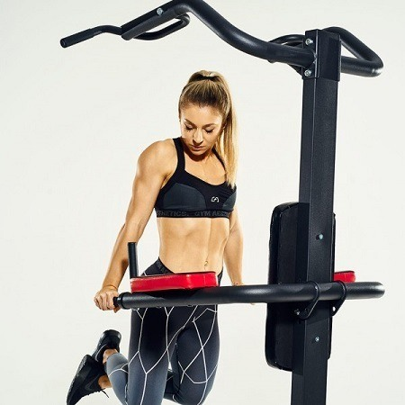 Young Woman Doing Dips