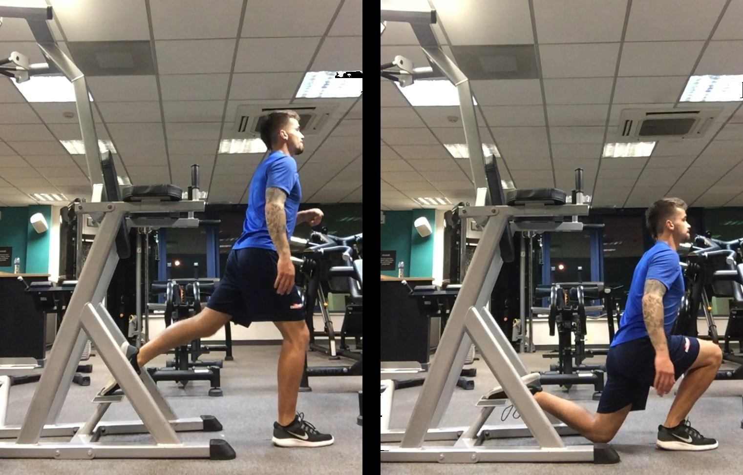 Power Tower Split Squat