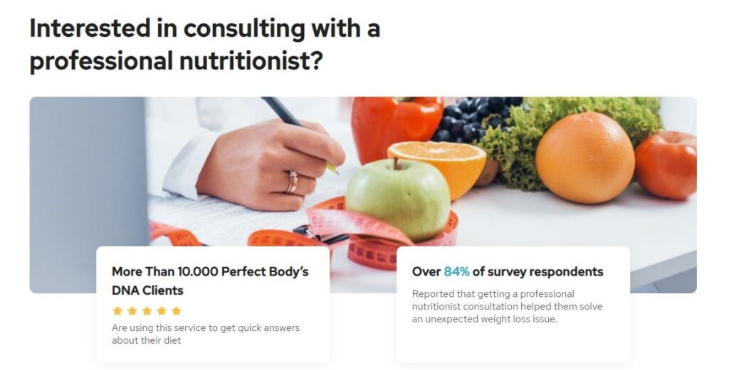 Perfect Body DNA Dietitian Consultant