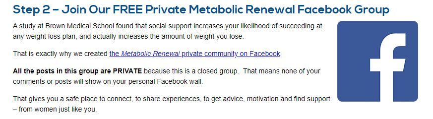 Metabolic Renewal Facebook Group