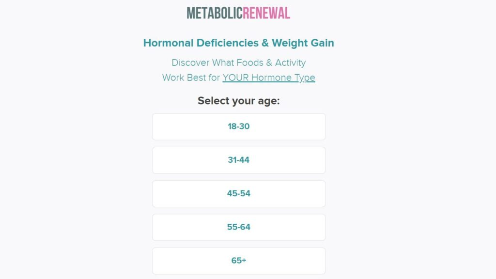 Metabolic Renewal Hormone Type Quiz