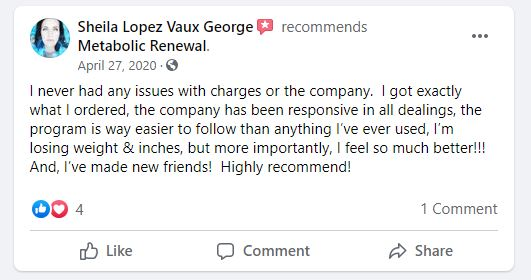 Metabolic Renewal Customer Review