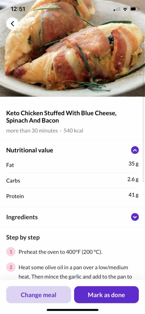 Keto Cycle Meal Plan