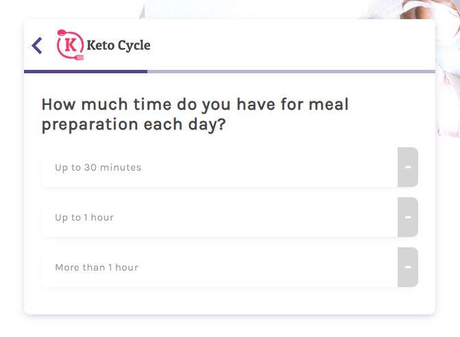 Keto Cycle Quiz