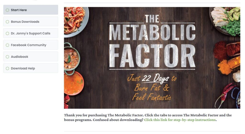 The Metabolic Factor Review Getting Started Module
